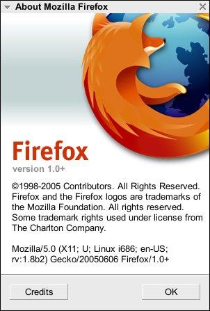 About Mozilla Firefox