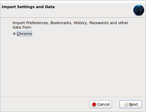 Import Settings and Data